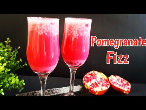 Pomegranate Fizz Recipe | Pomegranate Drink | Iftar Drinks | Refreshing Summer Drinks