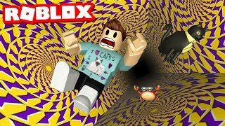 Fall down the PIT OF ILLUSION in Roblox!