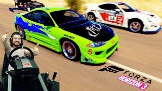 Ракета на колёсах - Ferrari F50 GT и тачка из Форсажа в Forza Horizon 3 на руле Fanatec CSL Elite