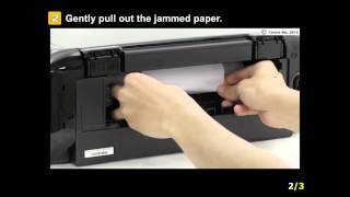 PIXMA MG7520: Removing a jammed paper: cassette 1, automatic double-sided printing