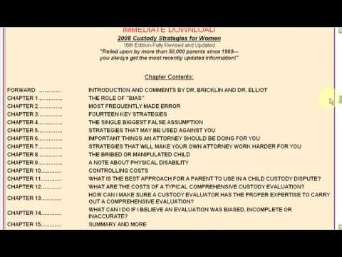 Child Custody  Temporary Child Custody  Child Custody Form