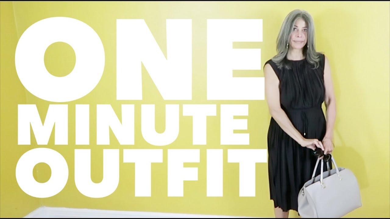 b23bc3347 ONE MINUTE OUTFIT #black dress FOR WOMEN OVER 50 | Rocking Fashion & Life  in my 50's