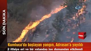 Antalya Kumluca'da başlayan yangın, Adrasan'a yayıldı