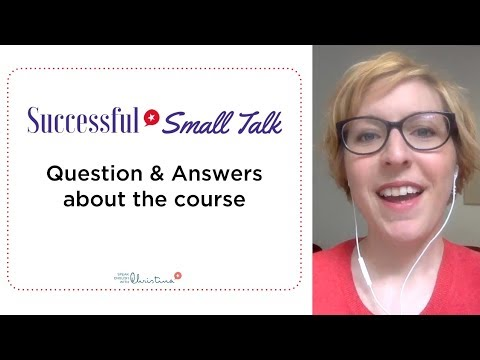 Successful Small Talk in English - Questions about the course
