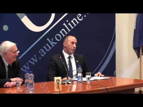 "A.U.K. Forum: ""Governance as Management"" with Ramush Haradinaj"