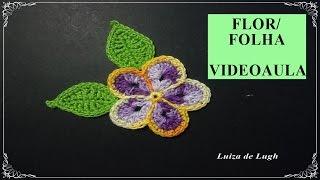Flor e folha fácil #LuizadeLugh