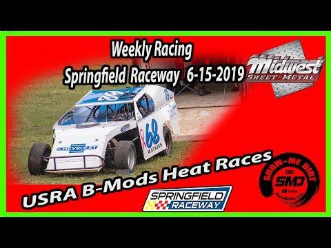 S03-E296 USRA-B Mods Heat Races Springfield Raceway 6-15-2019 #DirtTrackRacing