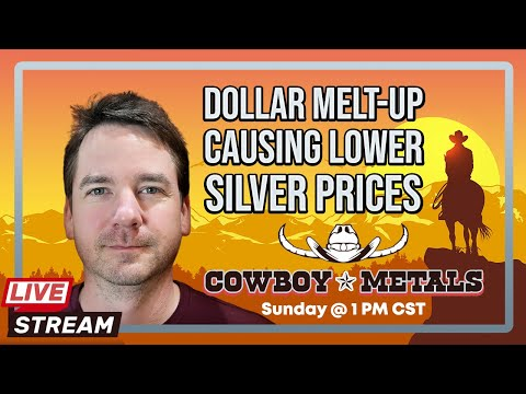 Dollar Melt-up Causing Lower Silver Prices