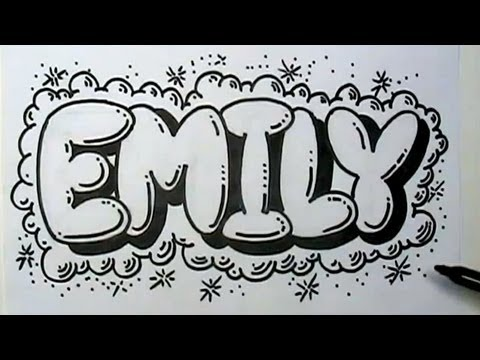 How to Graffiti Letters - Write Emily in Bubble Letters