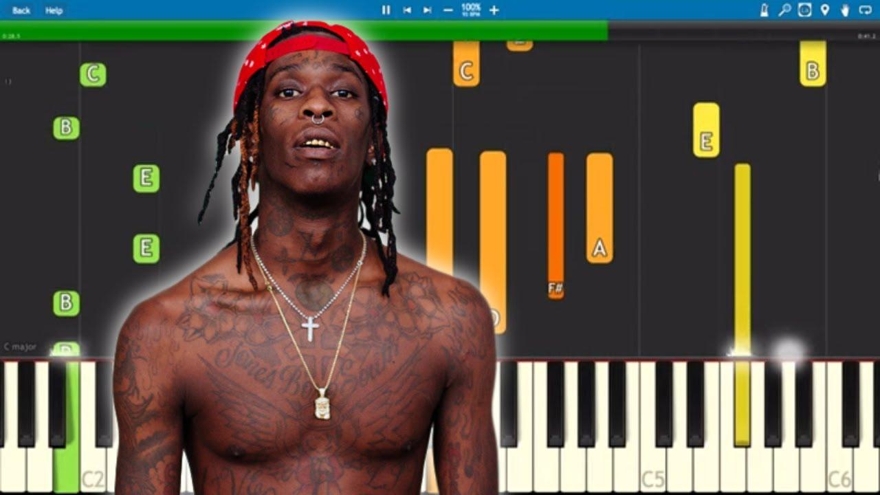 Young Thug, J Cole, Travis Scott - The London - Piano Tutorial image