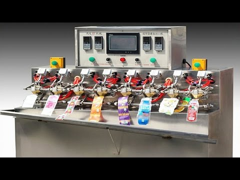 ice lolly stick filling sealing machines automatic juice drinking packaging machinery spout bags
