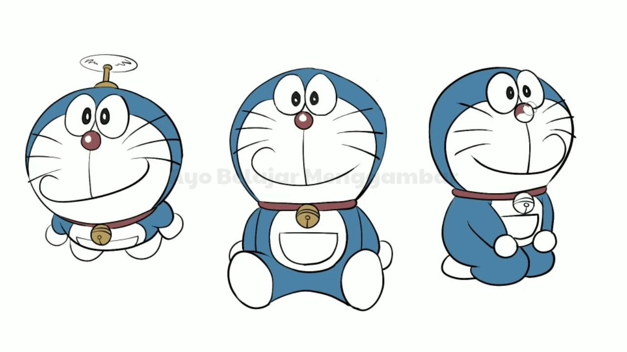 Menggambar Dan Mewarnai Doraemon