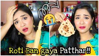 ROTI Making Challenge for 1ST Time   Roti Ban Gaya Patthar 😭   Nil & Situ Vlogs