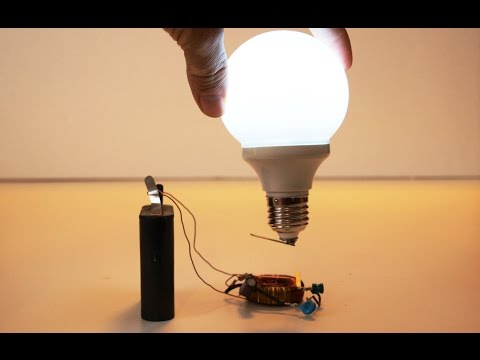 "Wireless Electric Generator for Light Bulb ""Free Energy"" 