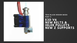 Tevo Black Widow Mods Part 4 - E3D, New Belts & Idlers, New Z Supports