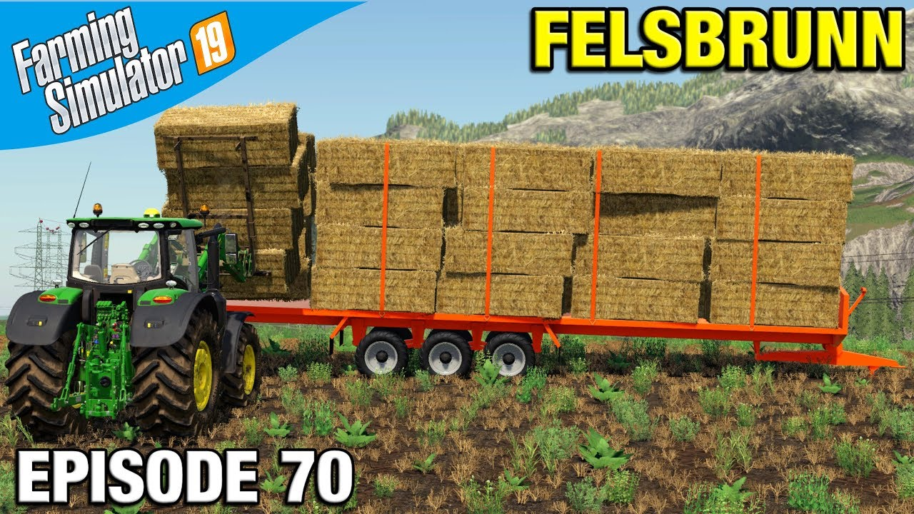 LOADING A 42FT BALE TRAILER Farming Simulator 19 Timelapse - Felsbrunn FS19  Episode 70
