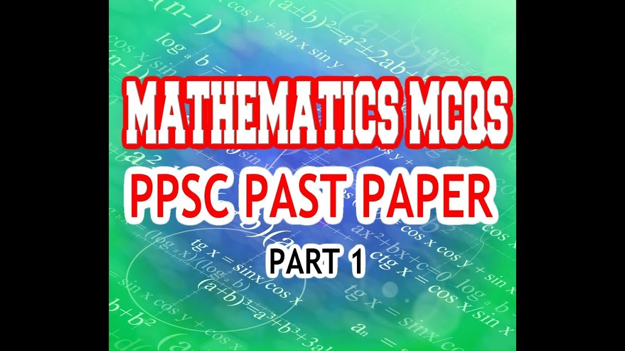 PPSC past papers part 1