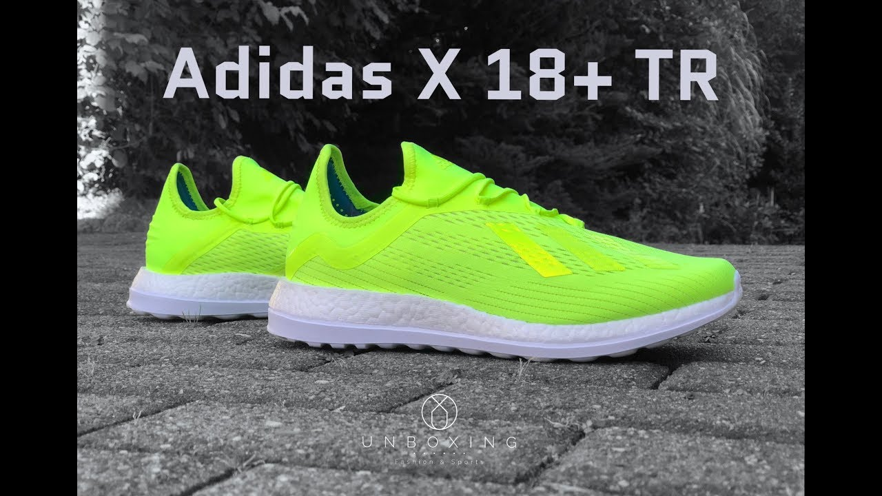 new product 8c637 52aa6 Adidas X 18+ TR Energy Mode Pack  UNBOXING  ON FEET  fashion shoes   2018  4K