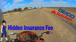 Hidden Insurance fee, suspended, StateFarm, Geico, old tickets, light kit, uninsured, MOTOVLOG 143