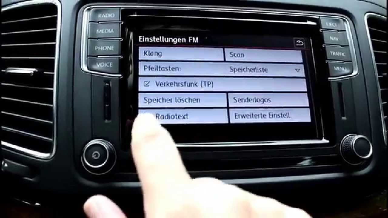 03 vw der neue sharan infotainmentsystem das radio. Black Bedroom Furniture Sets. Home Design Ideas