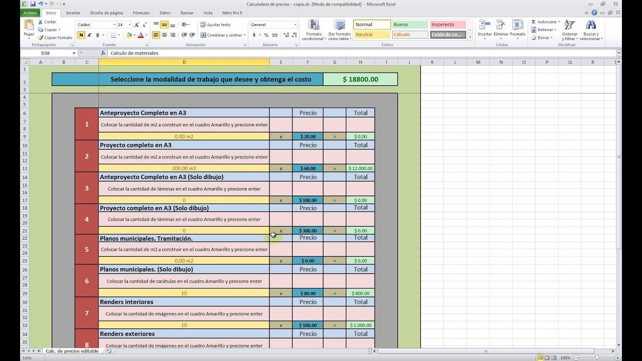 Planillas De Excel