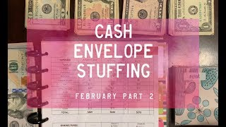 Cash Envelope Stuffing, February pt. 2 | Part-Time | Dave Ramsey Inspired | BudgetWithBri