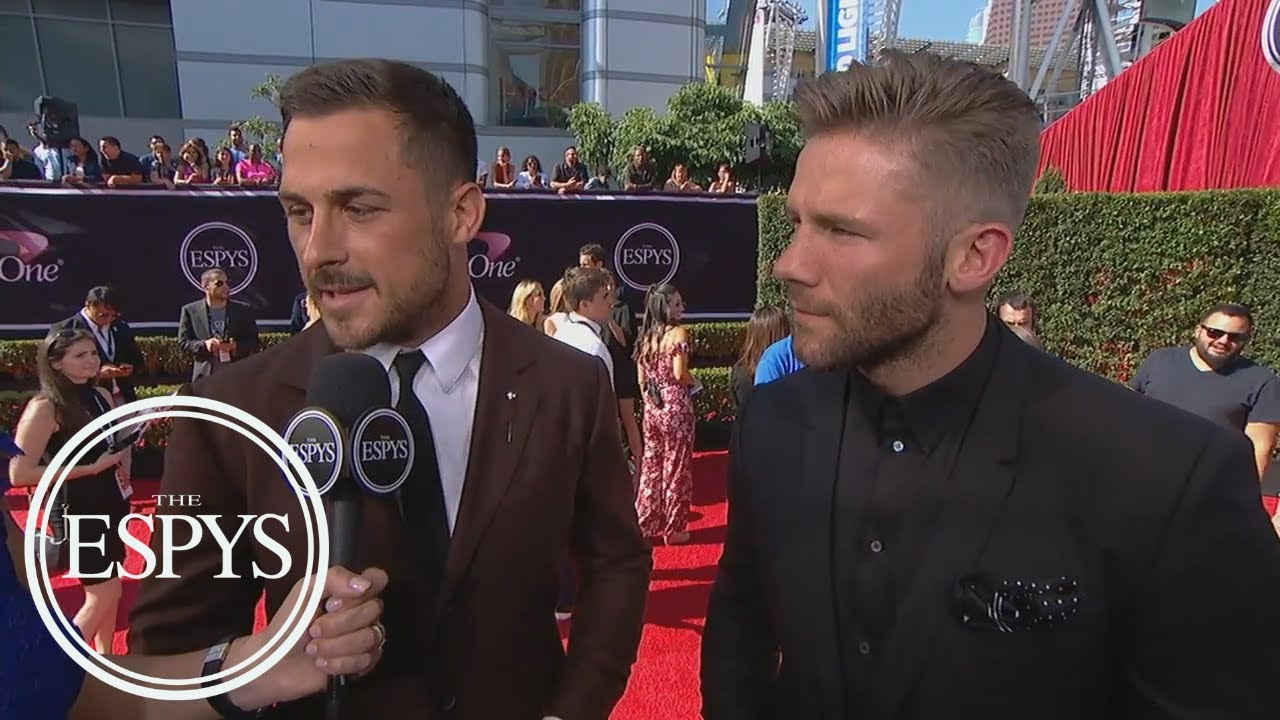 Julian Edelman Danny Amendola Talk Bro Cation With Tom Brady The Espys Espn