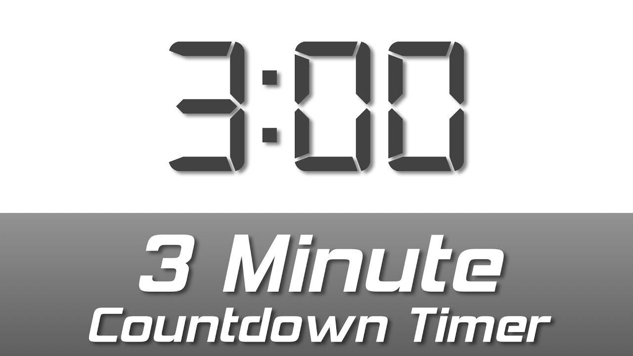 timer 3 mins