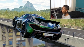 One of It's Romello's most viewed videos: INSANE CUSTOM McLaren P1!!| 1000HP | Forza Horizon 3 Career With Steering Wheel!!