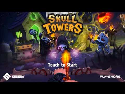 Skull Towers - Castle Defense android game first look gameplay español