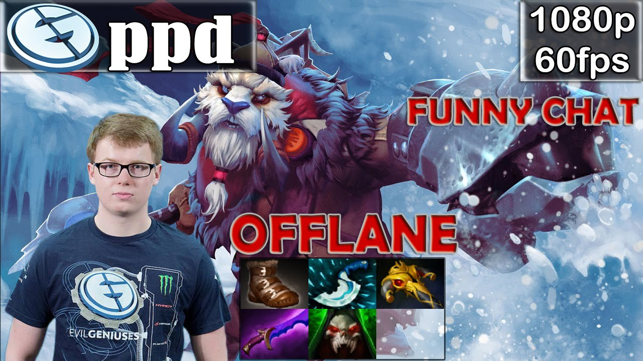 ppd eg tusk offlane with funny chat dota 2 pro mmr gameplay