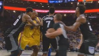 Warriors VS Kings Fight After Shaun Livingston Slams Skal Labissiere To The Ground!