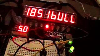 four letter word clock functioning on breadboard picaxe 18m2