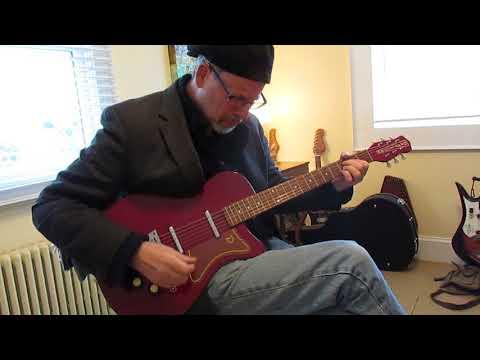 Dave playing Danelectro U2 Reissue Guitar
