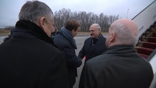 Лукашенко прибыл в Санкт-Петербург, где примет участие в саммитах ЕАЭС и СНГ