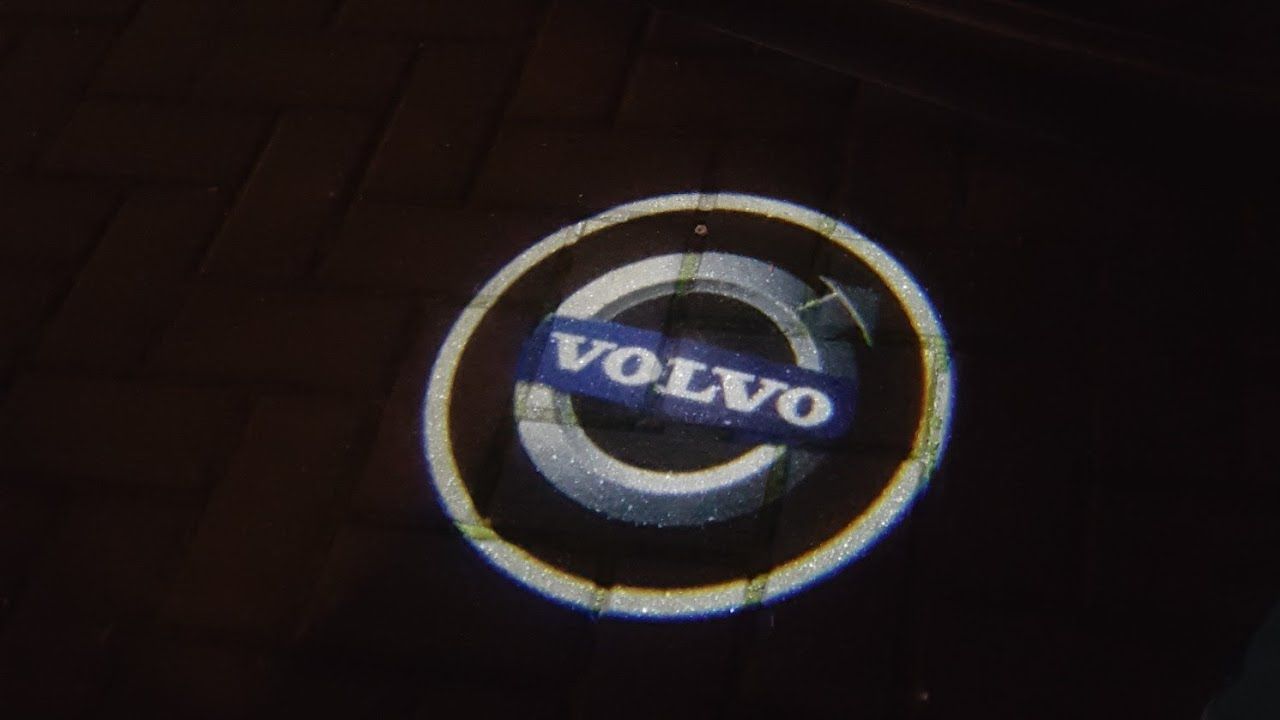 volvo logo led projector in night youtube