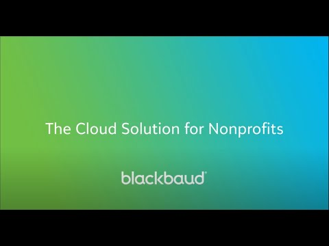 Blackbaud Cloud Solution for Nonprofits