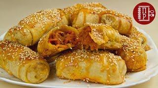 Самые Вкусные и Быстрые Пирожки - Трубочки с Тушёной Капустой! (Постный Рецепт)