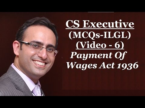 payment of wages act1936 Text the payment of wages act, 1936 (iv of 1936)1 [23rd april, 1936] an act to regulate the payment of wages to certain classes of persons employed in industry whereas it is expedient to regulate the payment of wages to certain classes of.