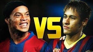 Neymar Jr vs Ronaldinho ● Freestyle ● Crazy Tricks