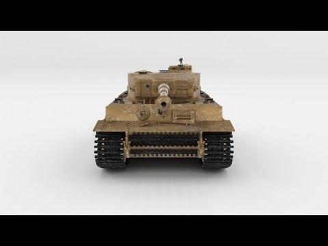 3D Model Fully built Panzer Tiger Tank Early interior and at 3DExport com