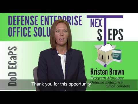 Overview of the Defense Enterprise Office Solution (DEOS)