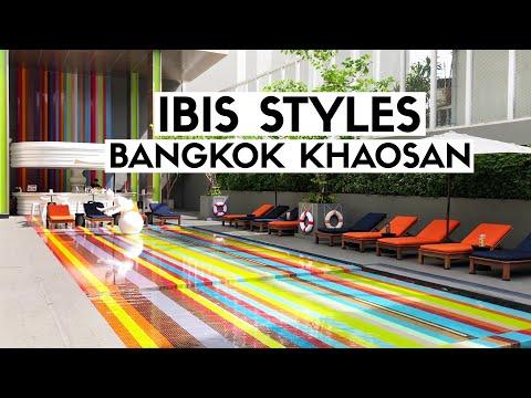Review khách sạn ibis Styles Bangkok Khaosan. Hồ bơi cầu vồng quá đẹp | Huy Kutis