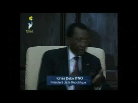 Idriss Deby face à la presse