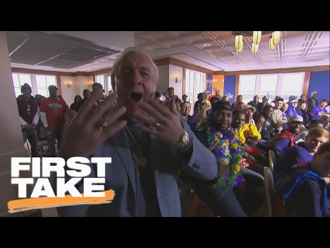 Ric Flair Surprises First Take Crew On Set In New Orleans | First Take | February 17, 2017