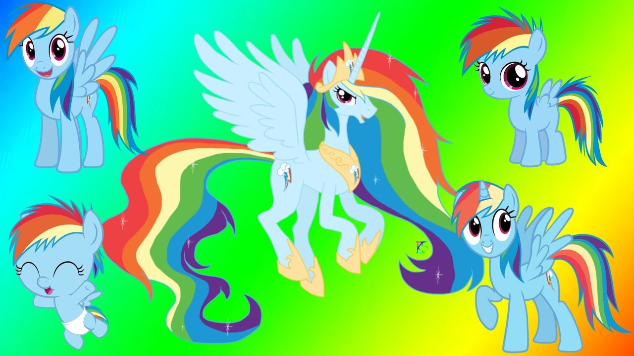 My Little Pony Rainbow Dash Coloring Video - YouTube