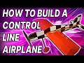 Control line electric model airplane