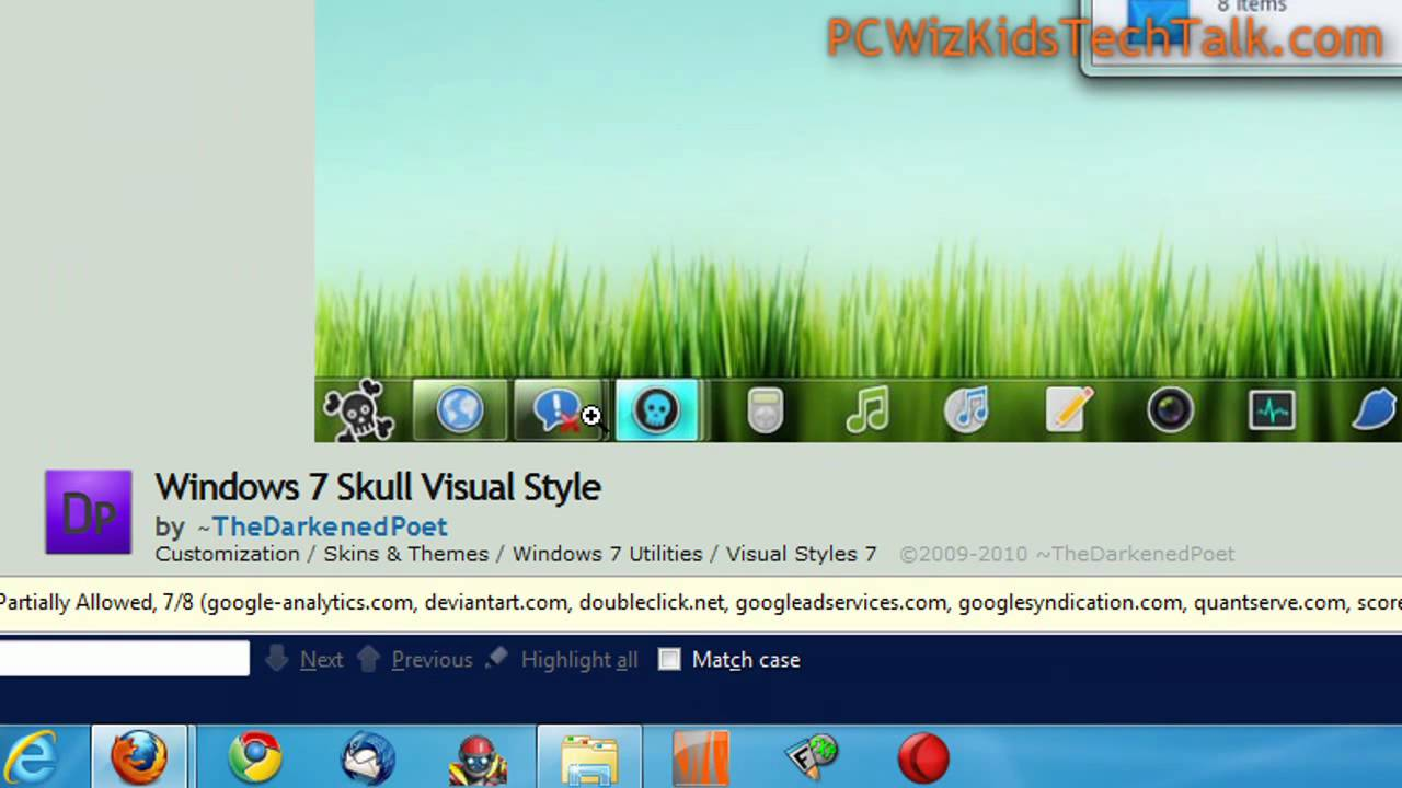 The world of windows: windows 7 themes.
