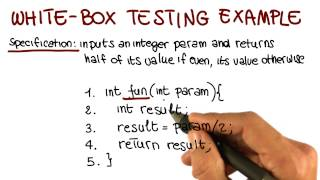 White Box Testing Example - Georgia Tech - Software Development Process