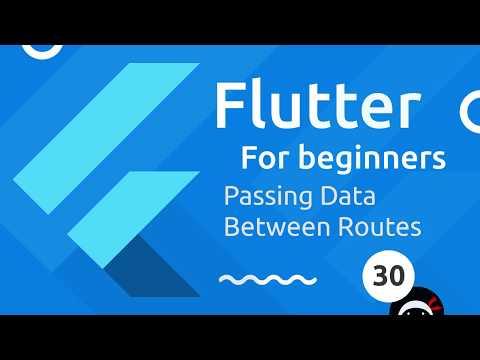 Flutter Tutorial for Beginners #30 - Passing Route Data